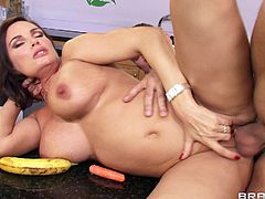 Busty milf likes riding younger cock in wild and amazing hardcore session