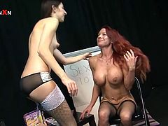 This smoking hot and horny babe Faye Rampton is a sex counselor. So Mishka Devlin comes to her for a hot advice. Faye gives that advice deep in her pussy.