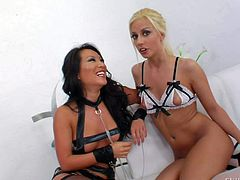 Asa Akira. Kagney Linn Karter and other sexy lesbian babes show their love for anal fun in front of the camera. They talks to cameraman and do dirty thongs in behind the scenes.