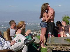 A bunch of swinger are at a mansion with big plans of switching partners and fucking. The couples meet each other and do some flirting. Before you know it many are heading to the bedroom and getting intimate.