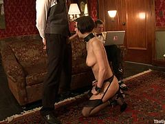 When it comes to bondage, these ladies really love to have fun. Check out this hot scene where they're humiliated and forced to suck their masters' cocks.