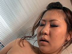 Cum addicted brunette seems to be sleepy, cuz her face depicts nothing while her wet hairy pussy is licked. Bitchie a bit plump chick in fishnet stockings desires to suck a cock in return to fill her mouth full with cum.