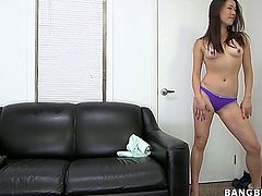 Here is another model wannabe and her name is Lily. Ok, lets see what we can do with this babe. She needs to spread her legs wide and shove that toy deep...