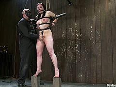 If you're into BDSM then you're gonna love this one as we have the brunette vixen Maggie Mayhem getting spanked and tortured.