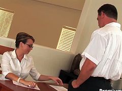 Classy MILF Holly West is getting screwed in the office