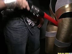 This is what happens in the VIP area of the night club where these chicks are performing... Veronica Rodriguez loves to get down on her knees and suck some dicks.