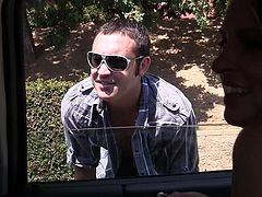 Three hot cougars were in the car when suddenly they see this guy on the side road. He was the perfect prey for them so the bitches open the door of the car and invite him in. After reaching their destination the guy founds out how wild our cougars are as they assault him and suck his hard cock