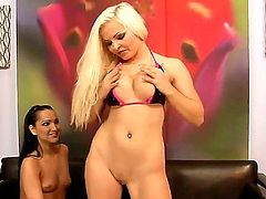 Jenna Lovely and Sabrina Sweet do a great job of swapping favors, using a big plastic dildo to satisfy each others mutual urges while never once judging. Thats true friendship.