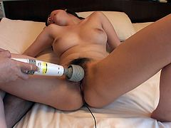 Japanese hottie Emiri Mizusawa is damn proud of her juicy tits. Her succulent pussy is opened and more than ready for being stimulated with vibro devices.