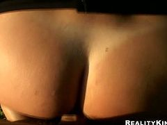 Torrid booty blond head in glasses is far from being shy. This zealous dick hungry slut likes stripping right outdoors and never misses a chance to ride a stiff dick for multiple orgasm. Dude, you surely need to check her out in Reality Kings sex clip to jerk off and jizz at once.