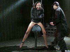 There's some fucked up stuff going on in this BDSM video where the foxy Alexa Cruz is experiencing some extreme bondage.