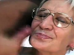 Even though she's old of age, this granny can fuck like the best of them. Watch this hot clip where her wet pussy's nailed by a big cock.