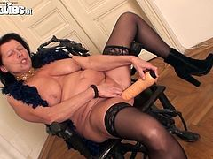 This is a hot mature solo action by a chubby granny Zolitaire. She gets naked and start making herself feel good.