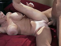 Beautiful babe with awesome natural big boobies Darla Krane is having sex with her amazing boyfriend Danny Mountain, which is pleasing her in the best way possible.