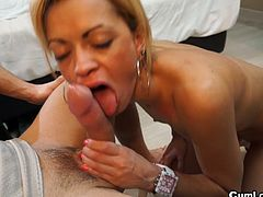 Anita Ribeiro was born in Brazil, but she is living in Spain for ten years. She's a girl who likes dancing, surfing and fucking every day. She gave up her waitress work to get into porn.Watch this latina hottie getting hard fucked by Nick Moreno's big cock and taking cum shot in her mouth.