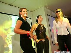 A lot of topless bitches are ready to serve horny dudes right on the dance floor. You are right here to enjoy them all in extremely hot Tainster party hardcore XXX video.