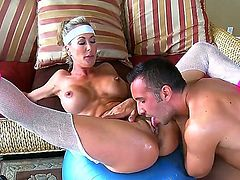 Brandi is a horny and busty bitch who craves a nice cock. She gets Keiran Lees dick in her sweet pussy and it looks so hot and crazy! Watch and enjoy!