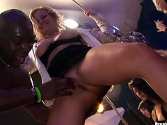 Peppering sluts with curvy bodies covered with tiny lingerie and stockings get pounded in missionary style and welcome tongue fuck from rapacious lesbians in sizzling hot group sex video by Tainster.