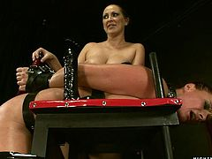 Sexy chick Mandy Bright lets Katy Parker tie her up and play BDSM games with her. Katy attaches clothespegs to Mandy's pussy and enjoys the way she moans in pleasure.