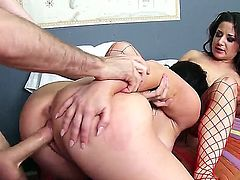 Casey Cumz,Charity Bangs and James Deen in one superb hardcore threesome porn