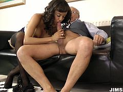 Slim and fit girl is riding hard dick and giving outstanding blowjob