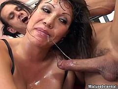Get a load of this brutal hardcore scene where a slutty milf ends up with her asshole filled by cum after taking a pounding from this construction worker's big hard cock.
