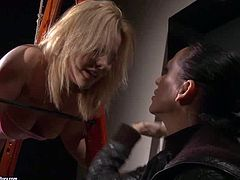 Have fun with two depraved and beautiful lesbian vixens Mandy Bright and Salome. This blonde n brunette couple will show you thereal lesbian bdsm performance