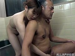 THis sizzling Japanese siren can wash you out and make you reborn. This big belly guy knows how pleasant she is, when she grabs a cock with her hands!