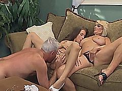 Old Couple Seduce Housekeeper