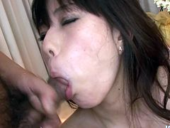 Cock sucking adventure of Asian sexpoitress Manami Komukai