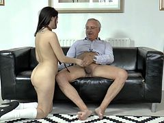 The room fills with loud moans of pleasure, cuz two pale British whores get banged doggy tough. Grey haired man does his best for pleasing kinky black heads in stockings. These dirty dick riders are worth checking out in Jim Slip sex clip, cuz dozen of satisfaction is guaranteed.