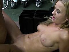 Superb blondie gets huge cock to play with and stimulate her deep desires in porn