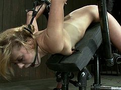 This hot blonde is called Tati Russo and she's going to endure some pretty fucked up BDSM shit in this clip.