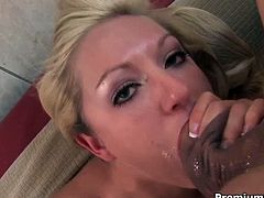 The deep of her throat is amazing. She swallows his dick like greedy. After steamy eager blowjob she gets messy facial. Enjoy hot and exciting Premium HD porn tube movie.