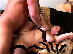 Karen Kougar gets her hole trained by hard fuck stick of hot guy