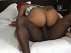 Ebony couple great sex