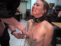 This desirable and kinky abbe Delilah Knight is being inflicted to some sexual perversion that starts in her head! Nice public action to watch!