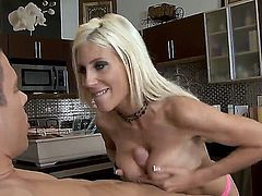 Mick Blue was caught by a real cougar today. Her name is Puma Swede and she is arresting blonde milf with big round boobs, slender body and super sexy face. Enjoy!