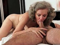Granny with curves fucked in her tight pussy