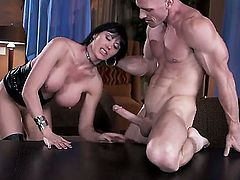 Eva Karera is an experienced fucking goddess with giant boobs and massive ass. Suck lady needs a really powerful dick to get the satisfaction, so we called Johnny Sins!