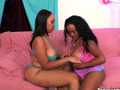 Extremely perverted black sluts get their greasy pussies fucked hard by a big black cock in hot threesome video by Premium HDV. Dude, get ready for the hottest action ever!