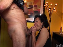 Gosh, this black head is ugly. Spoiled slim bitch in black dress has uncombed hair. Being tipsy kinky whore kneels down and sucks a strong cock of a fat man right in the hall. Check out this cum addicted bitch in Fame Digital sex clip and get ready to jizz at once.