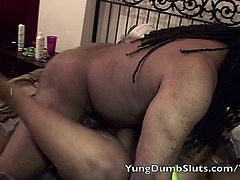 Poizon Ivy and Lisa Rivera bring home big booty, Yung Dumb Slut for daddy, and he bangs her out!!