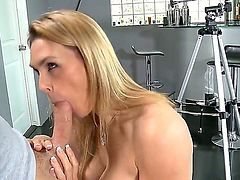Tanya Tate with gigantic knockers and smooth twat gets the fuck of her dreams