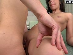Dirty-minded whore with nice butt gets fucked mish right on the dinner table