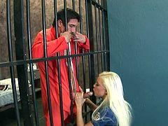 For being good, blonde hottie rewards hunk with impressive hardcore blowjob and sex