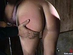 Faith Leon is the sexy girl going through some hot bondage action that also sees her pussy getting fucked hard.