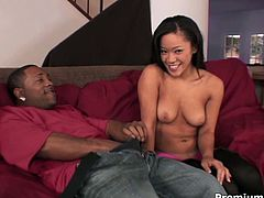 Amazingly hot babe Jayla Starr takes her lover's meaty cock in her lustful mouth, sucks it back and forth and then she gets her pussy fucked hard like there's no tomorrow.