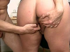 His wife leaves and BBW fucks him hard and deep! Don't miss this hardcore sex scene where BBW slut reveals her whorish side.