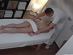 Shocking revelation! 3 spy cameras in a massage salon. We spy on Czech girls during a massage. They have no idea they are being watched. You will be shocked when you see what�s going on inside! Real footage! You won�t believe your eyes! Watch the shocking reality!